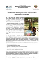 Institutional challenges to water and sanitation promotion in rural Laos